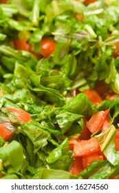 Fresh Mediterranean salad. Shallow DOF. Focus in front.