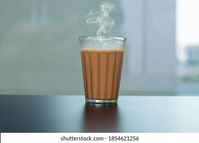 Fresh milk tea or Indian Kadak Chai.