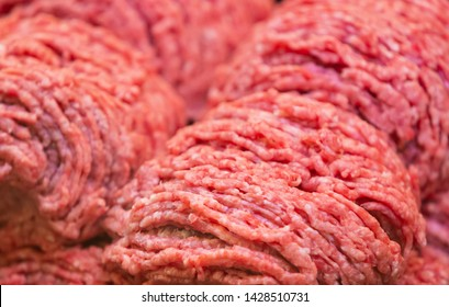 Fresh minced meat in butcher shop