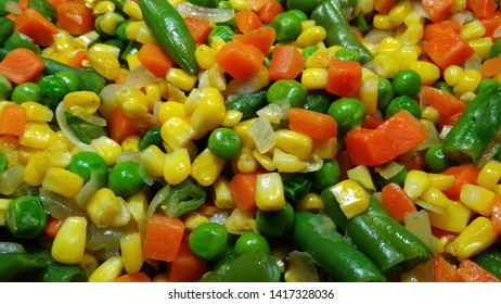 Fresh mix of vegetables for background