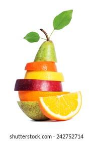 Fresh Mixed Fruit isolated