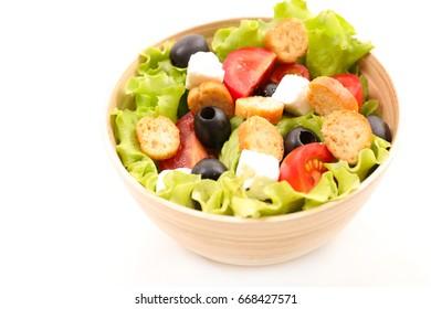 fresh mixed salad in bowl