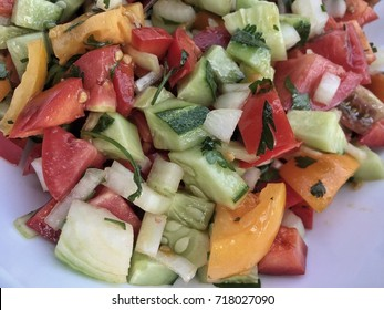 fresh mixed salad on plate