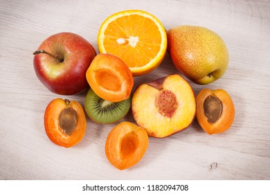 Fresh natural fruits containing nutritious vitamins and minerals for healthy lifestyles