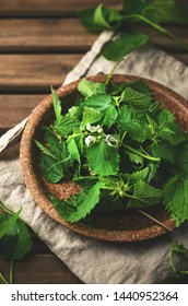 Fresh nettle, natural medicine, phytotherapy