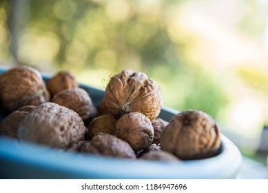 Fresh nuts on the table - Shutterstock ID 1184947696