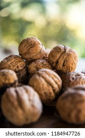 Fresh nuts on the table - Shutterstock ID 1184947726