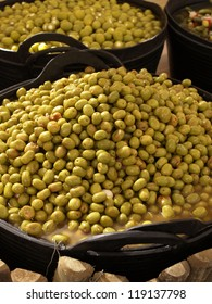 Fresh olives on a street market