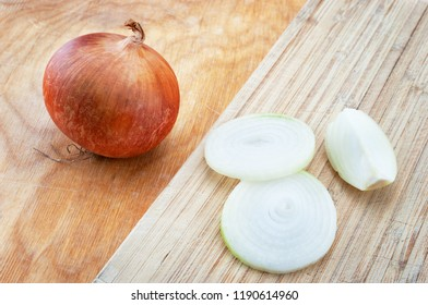 Fresh onion on the table