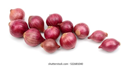 Fresh onions isolated on white