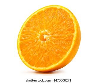 Fresh orange fruit isolated on white background.with clipping path.