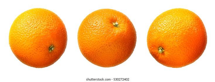 Fresh orange fruit isolated on white background