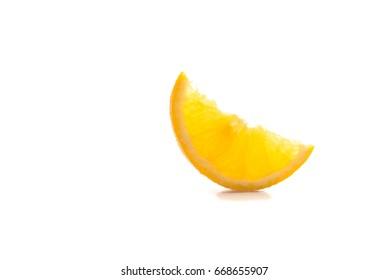 fresh orange fruit on white background