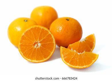 Fresh orange isolated background