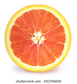 Fresh Orange isolated on white background, Fresh Grapefruit, Cara Cara orange on White Background With clipping path,