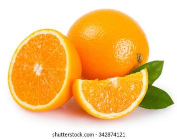 fresh orange isolated on white background - Shutterstock ID 342874121