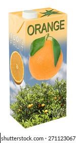 Frischer Orangensaft im Getränkekarton