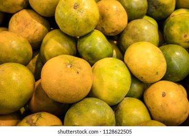 fresh orange at market