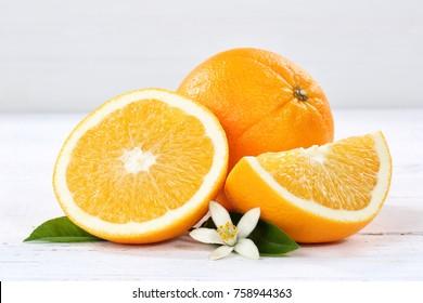 Fresh orange oranges fruit fruits on a wooden board wood