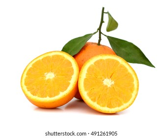 fresh oranges isolated on white