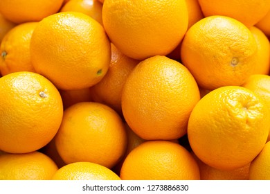 Fresh oranges in market