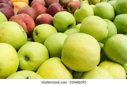 Fresh Organic Apple on the Marketplace