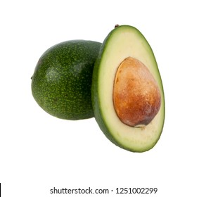 Fresh organic avocado isolated on the white. Tropical exotic food.