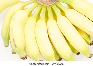 Fresh organic banana bunch