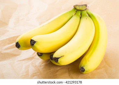 Fresh organic bananas