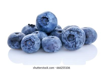 fresh organic blueberry isolated on white background