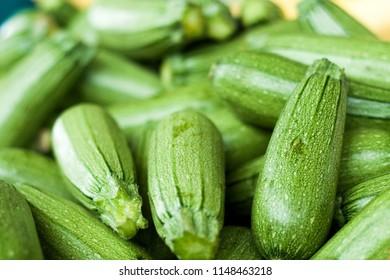 Fresh organic grey zucchini