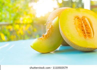 fresh organic melon background