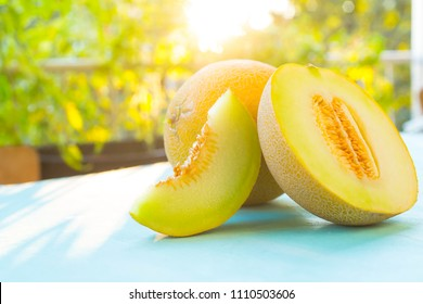 fresh organic melon background
