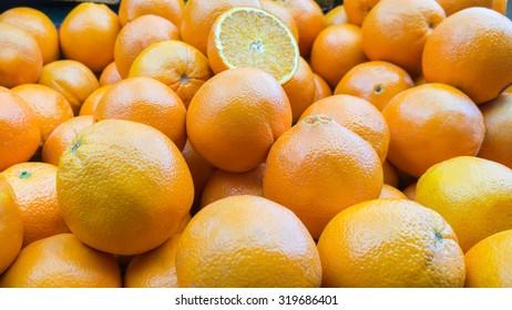 Fresh Organic Orange on the Marketplace