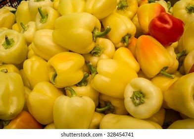 Fresh Organic Paprika on the Market