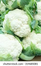 Fresh Organic Spring Cauliflower on the Marketplace