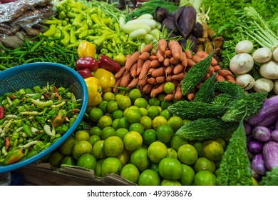 Fresh and organic vegetables at farmers market in Sri lanka