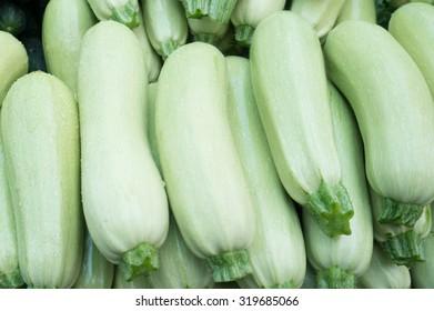 Fresh Organic Zucchini on the Marketplace