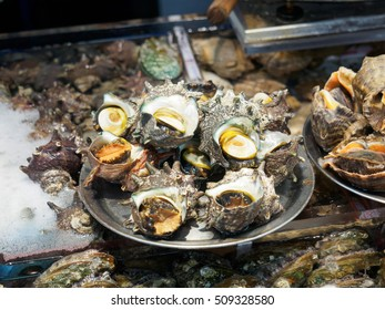 Fresh oyster at seafood market