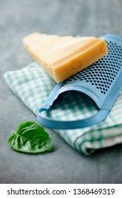 Fresh parmesan with grater