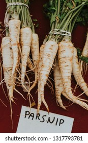 Fresh parsnips roots