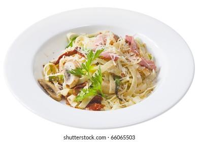 fresh pasta isolated on white