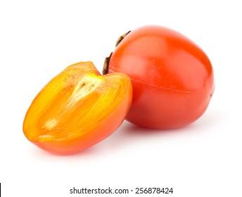 Fresh Persimmon fruit isolated on white background