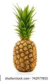 fresh pinapple on white background