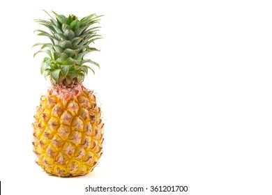 Fresh pine apple rich of vitamin and good for health on isolate background.