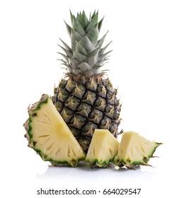 Fresh pineapple fruit isolated on white background