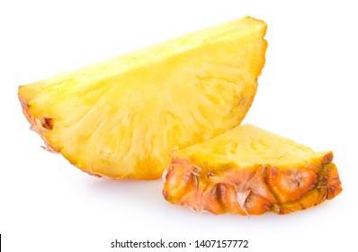 fresh pineapple isolated on white background