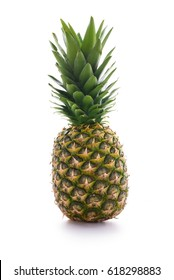 Fresh pineapple isolated over white