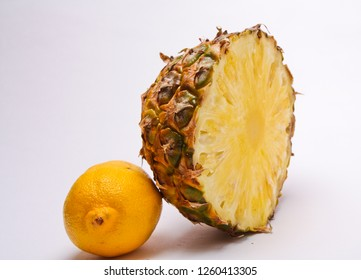 fresh pineapple on a light background