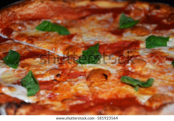 fresh pizza close up